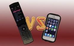 iPhone lần đầu đánh bật điện thoại nắp gập tại Nhật Bản