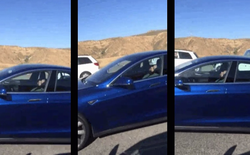 Quá tin tưởng hệ thống tự lái của xe Tesla, tài xế lăn ra ngủ