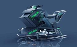 Chiêm ngưỡng thiết kế ban đầu của mô tô bay chiến đấu, vận tốc 240 km/h, mang được 4 quả tên lửa