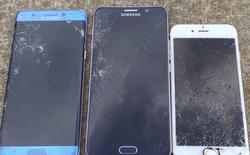 """Thả rơi so độ """"cứng"""" của Galaxy Note7 với Note 5 và iPhone 6s"""