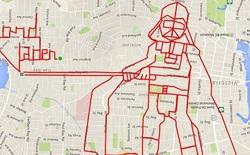 Xuất hiện trào lưu vẽ tranh nhố nhăng trên Google Maps bằng cách... tập thể dục