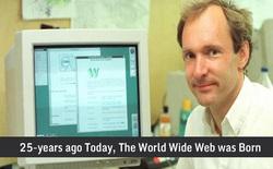 Hôm nay chính là kỷ niệm 25 năm ngày ra mắt trang web đầu tiên của thế giới