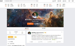'Big bang' Stephen Hawking có 1 triệu 'theo dõi' trên Weibo