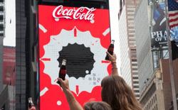 Biển quảng cáo 3D chuyển động đầu tiên trên thế giới đang được trưng bày tại Quảng trường Thời Đại