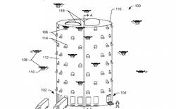 """Amazon đăng ký ý tưởng dự án kho hàng dạng """"tổ ong"""" để drone chuyển hàng phân phối và hạ cánh"""