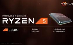 AMD Ryzen 5 ra mắt: 4 nhân 8 luồng, giá chỉ từ 169 USD