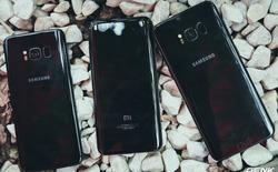 So dáng Xiaomi Mi 6, Galaxy S8 và Galaxy S8+ đen bóng