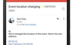Gmail cập nhật với khả năng nhận diện địa chỉ, số điện thoại và chuyển sang dạng hyperlink