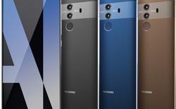 Huawei Mate 10 tiếp tục rò rỉ ảnh render: viền mặt trước cùng màu máy chứ không phải đen!