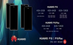 Đã có ảnh chụp cấu hình và giá bán của Huawei P10 và Huawei P10 Plus