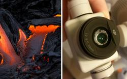 Để chụp được những bức ảnh nham thạch tuyệt đẹp này, nhiếp ảnh gia đã phải hy sinh camera trên drone DJI