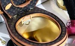 Mỹ: Xuất hiện bồn cầu sang chảnh trị giá 2,3 tỷ đồng với bệ mạ vàng, bọc bằng 24 túi da Louis Vuitton