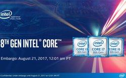 """Intel chơi """"chiêu"""", chính thức ra mắt Core i thế hệ 8 dưới tên Kaby Lake Refresh cho laptop, chưa có Coffee Lake cho máy bàn"""