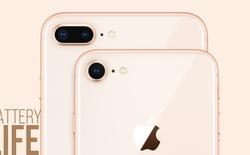 Test thời lượng pin iPhone 8: chỉ thua HTC U11, tốt hơn iPhone 7 và Galaxy S8 một chút