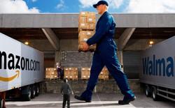 """Amazon quyết """"khô máu"""" với Walmart trong cuộc chiến về giá khiến các nhãn hiệu lãnh đủ"""