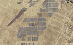 Trang trại điện mặt trời với 4 triệu tấm pin ở Trung Quốc khi nhìn từ ngoài không gian