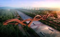 Chọn ý tưởng nút thắt may mắn làm cầu, công ty Hà Lan đã tạo ra một kiệt tác kiến trúc mới cho Trung Quốc