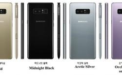 Đây là toàn bộ tùy chọn màu sắc của Galaxy Note 8 sắp tới