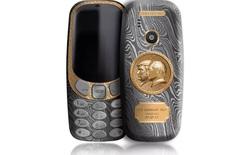Chiêm ngưỡng Nokia 3310 làm từ titan, thép quý và vàng, chạm khắc chân dung 2 vị Tổng thống quyền lực nhất thế giới hiện tại