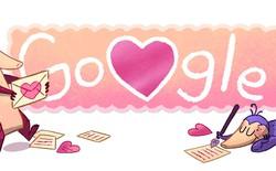 Google thay đổi doodle thành mini game chào mừng ngày Valentine