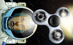 Liệu fidget spinner có quay mãi mãi trong không gian?