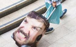 Mẫu vali kì lạ được in hình mặt người sẽ khiến tên trộm nào có ý đồ xấu xa cũng phải khiếp sợ