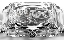 Chiêm ngưỡng 'nội thất' của đồng hồ siêu cao cấp được chế tạo hoàn toàn từ đá sapphire