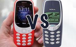 """Nokia 3310 bản """"hồi sinh"""" và Nokia 3310 gốc: Sau 17 năm, mọi thứ đã thay đổi như thế nào?"""