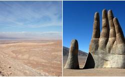"""Tại sa mạc khô cằn nhất thế giới ẩn chứa một bàn tay khổng lồ như đang """"kêu cứu"""""""