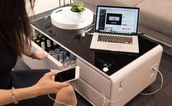 Chiêm ngưỡng chiếc bàn trong mơ của dân văn phòng: cafe, tủ lạnh, nghe nhạc, đèn LED... đủ mọi chức năng gói gọn bên trong