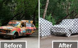 """Các nghệ sĩ đường phố ở Nga vừa mang câu lệnh """"CTRL + X"""" trong Photoshop ra ngoài đời thực"""