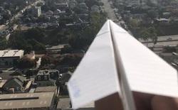 Xuất hiện thánh dị mới trên YouTube, mỗi ngày đăng một video quay cảnh phóng máy bay giấy từ ban công chung cư cao tầng