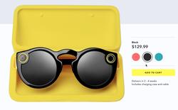 Chiếc kính Spectacles đã được bán rộng rãi trên website, giá 129,99 USD