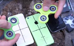 Anh chàng này đục thủng iPhone 7 để biến nó thành Fidget Spinner độc nhất vô nhị trên thế giới, tất nhiên là hỏng máy