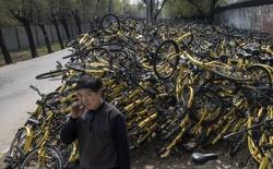 """Chìm trong """"biển"""" xe đạp cho thuê, một thành phố ở Trung Quốc buộc phải cấm dịch vụ này"""