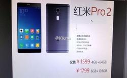 Lộ diện thông số kỹ thuật của Xiaomi Redmi Pro 2: cảm biến Sony 12 MP, pin 4500 mAh và không có camera kép