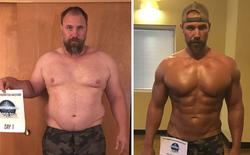 Dẫn con đi chơi nhưng thở không ra hơi, ông bố béo quyết tập gym 6 tháng, nhận được kết quả xứng đáng