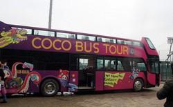 Xe bus mui trần đã ra đến Hà Nội, sẵn sàng đón các cầu thủ U23 Việt Nam về nước ăn mừng