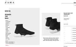 Mẫu sneakers mới nhất của Zara lại vướng nghi án đạo nhái Balenciaga và Rick Owens