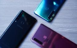Ảnh thực tế Samsung Galaxy A9 (2018) và Galaxy A7 vừa ra mắt: Thiết kế gọn, màu Gradient đẹp mắt, nhiều camera tốt