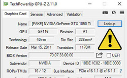 GPU-Z vừa được cập nhật tính năng phát hiện card màn hình NVIDIA giả