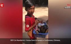 Choáng váng với khả năng giao tiếp bằng 11 thứ tiếng của cậu bé bán hàng rong ở Campuchia