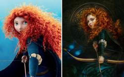 Bất ngờ trước vẻ đẹp của các nhân vật hoạt hình Disney khi được tái hiện bằng tranh sơn dầu