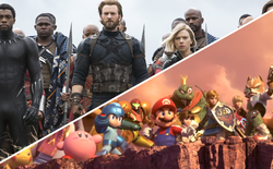 Thanos dùng găng tay vô cực xoá sổ toàn bộ vũ trụ trong trailer mới của game Super Smash Bros... có gì sai sai