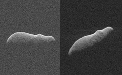 Một tiểu hành tinh trông y như con Hà Mã khổng lồ vừa bay sượt qua Trái Đất