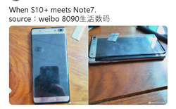 Hình ảnh rò rỉ cho thấy Galaxy S10+ có màn hình to bằng cả một chiếc Note7