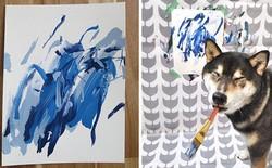 Chú chó shiba giúp chủ kiếm hơn 116 triệu đồng nhờ tài vẽ tranh trừu tượng