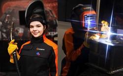 Cô gái 19 tuổi xinh đẹp vô địch giải thợ hàn toàn nước Nga
