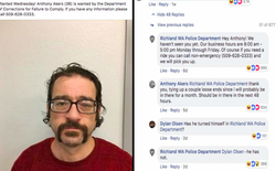 Mỹ: Kẻ đào thoát khiến Internet xôn xao vì thành khẩn đáp lại bài đăng truy nã trên Facebook