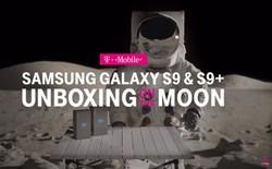 Chán ở trái đất, nhà mạng Mỹ mang bộ đôi Galaxy S9, S9+ lên cung trăng mở hộp và dùng thử camera